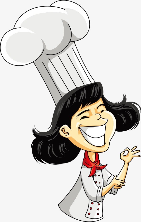Vector Female Chef, Cartoon Characters, Character, People Illustration PNG  and Vector - Black Female Chef PNG