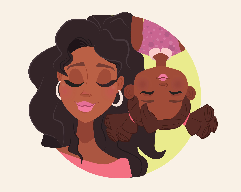 Black mom cartoon
