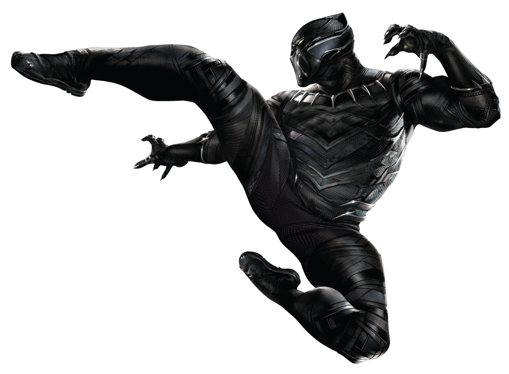 Image - CW Panther Kick Render.png | Marvel Cinematic Universe Wiki |  FANDOM powered by Wikia - Black Panther PNG