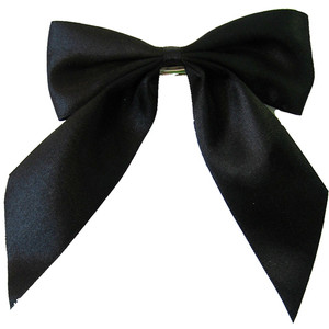 Black Ribbon Bow PNG-PlusPNG.com-300 - Black Ribbon Bow PNG