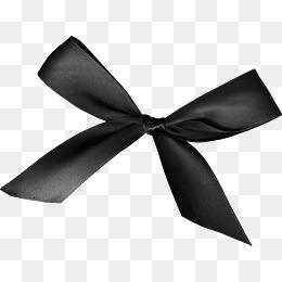 Black Ribbon Bow PNG - 166428