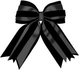 bow.png - Black Ribbon Bow PNG
