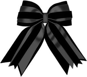 Black Ribbon Bow PNG - 166441