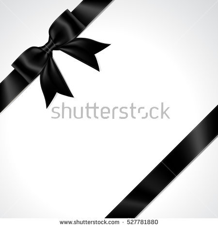 Illustration of isolated black ribbon. black ribbon bow vector. - Black Ribbon Bow PNG