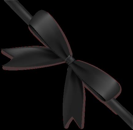 Black Ribbon Bow PNG - 166431