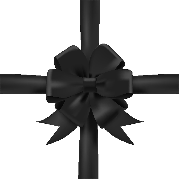 ribbon_black_icon3-1 - Black Ribbon Bow PNG