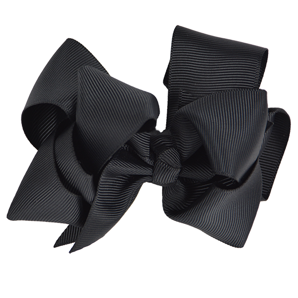 RWC41401-ten-cm-RIBBON-BOW-BLACK - Black Ribbon Bow PNG