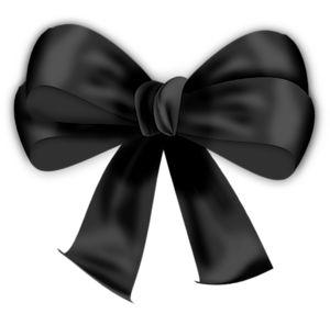 Black Ribbon Bow PNG - 166439