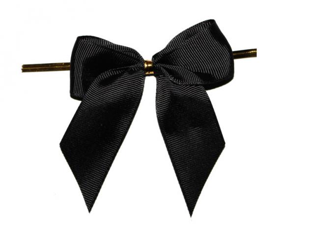 Black Ribbon Bow PNG - 166440