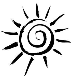 Black Rays Clip Art - Black Sun PNG