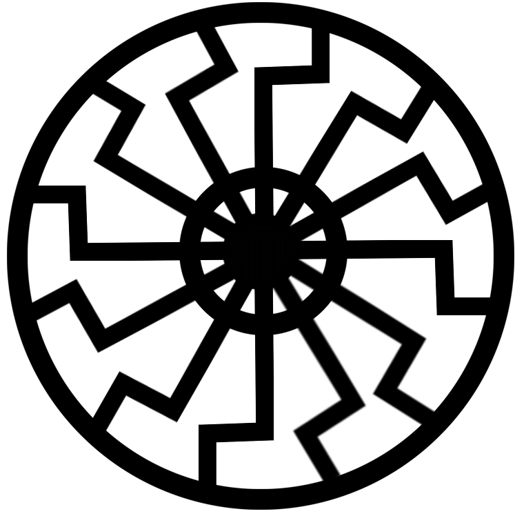 File:Schwarze-sonne--black-sun--sonnenrad.png - Black Sun PNG