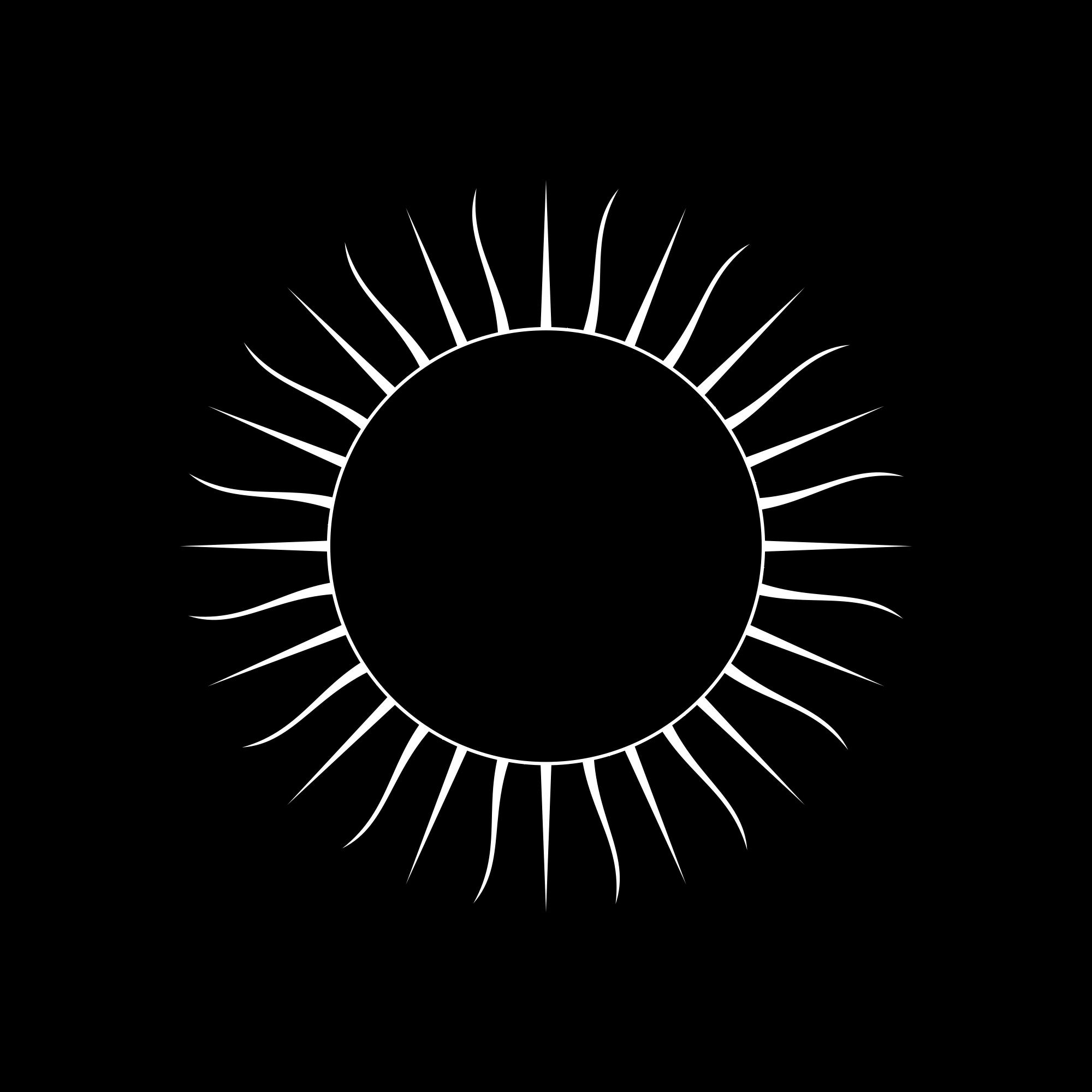 Open PlusPng.com  - Black Sun PNG