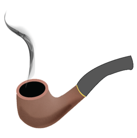 Create - Black Tobacco Pipe PNG