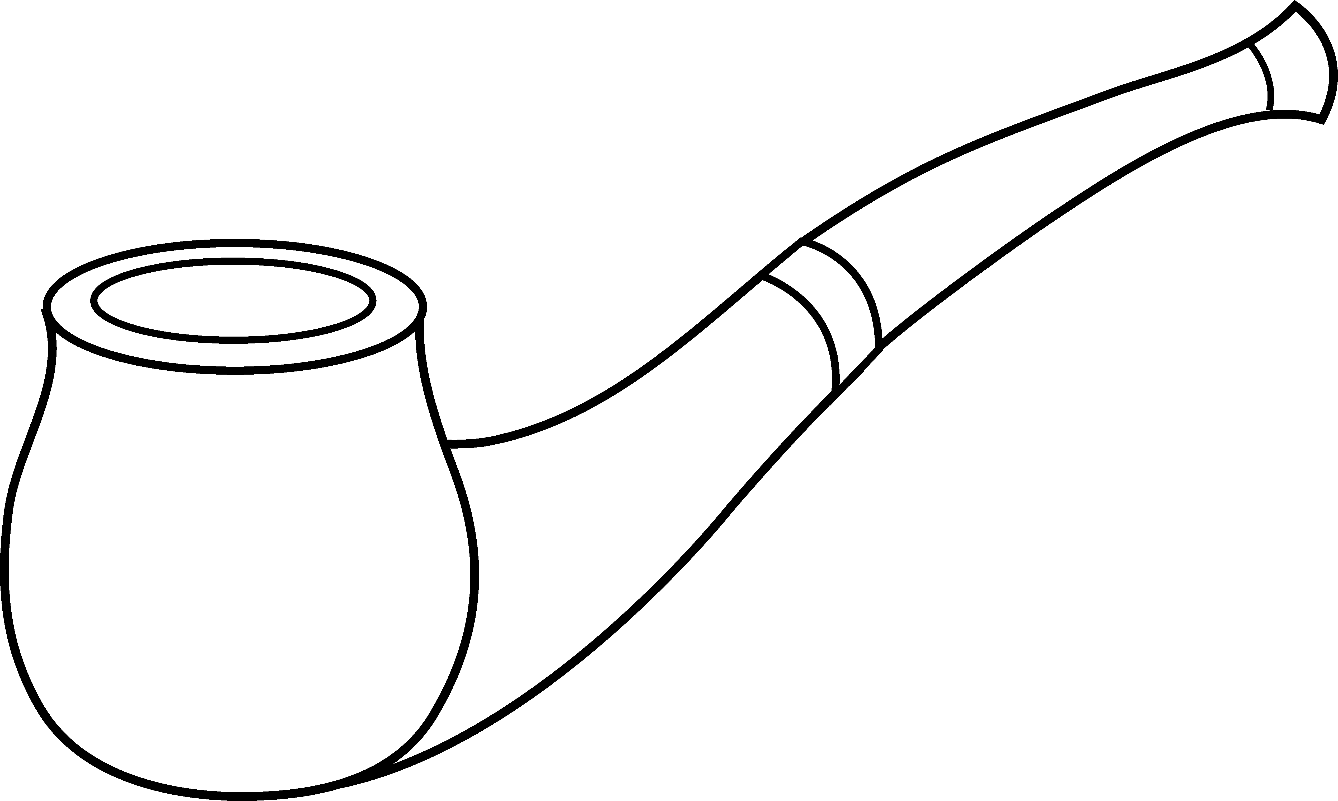pin Tobacco clipart smoking pipe #2 - Black Tobacco Pipe PNG