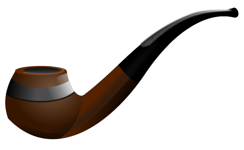 Pipe - Black Tobacco Pipe PNG