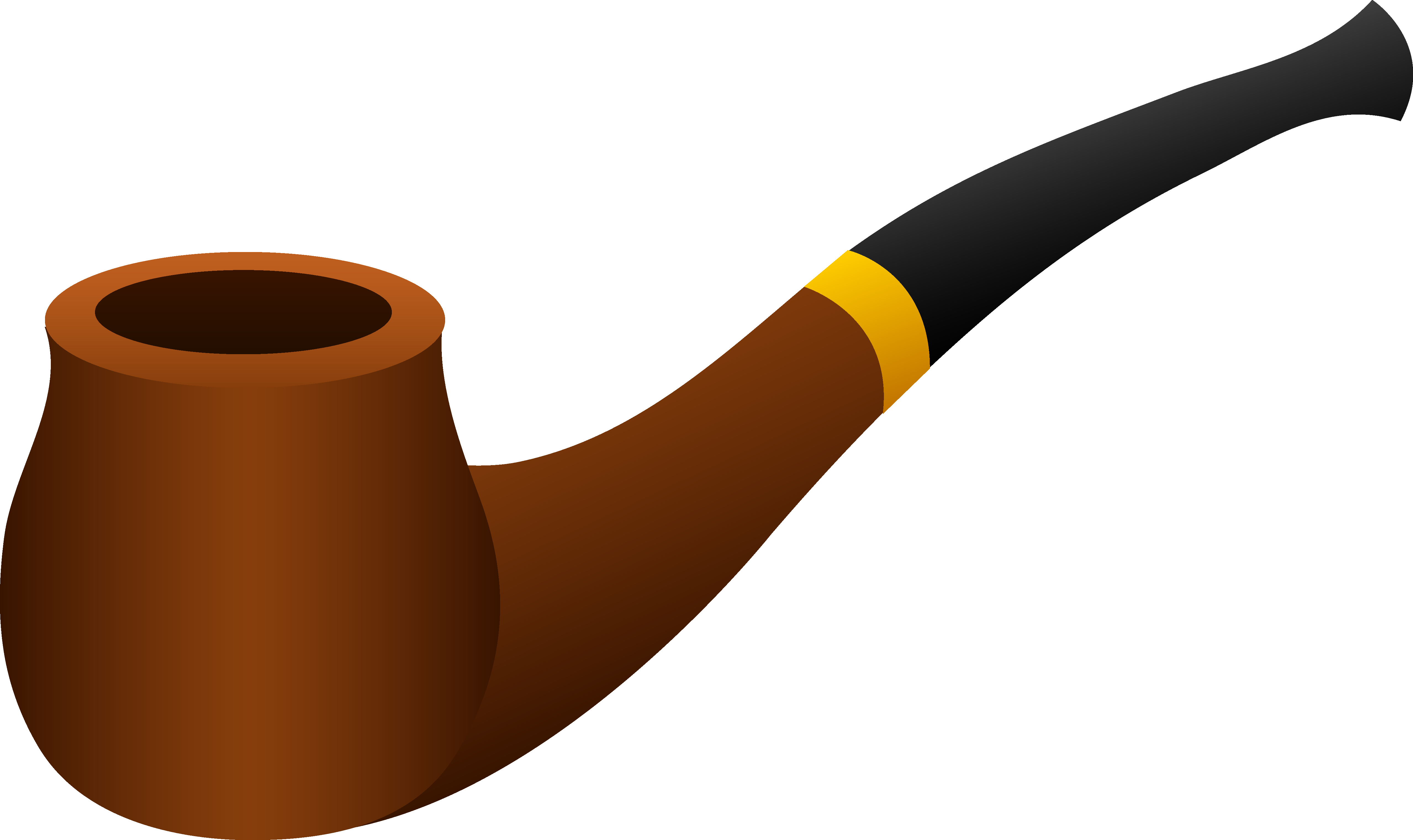 Pipe Clipart - Black Tobacco Pipe PNG