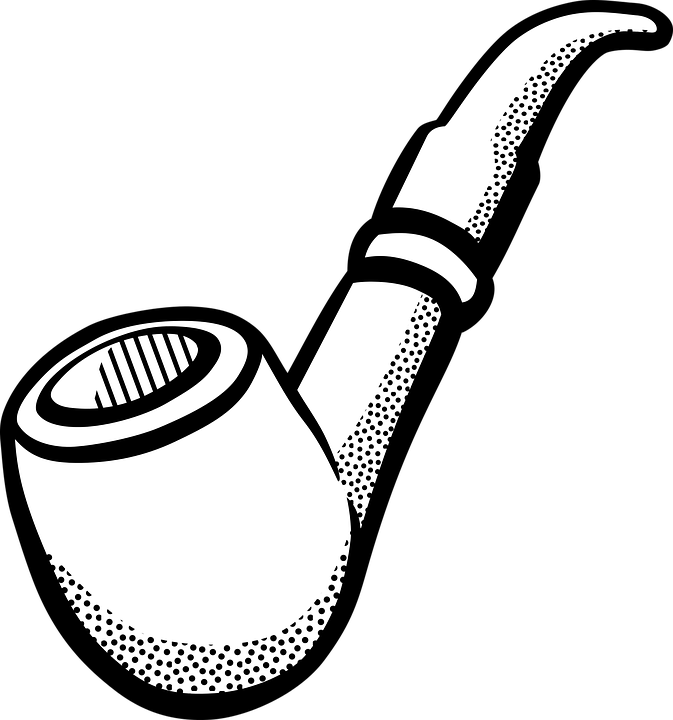 Pipe, Smoking, Tobacco - Black Tobacco Pipe PNG