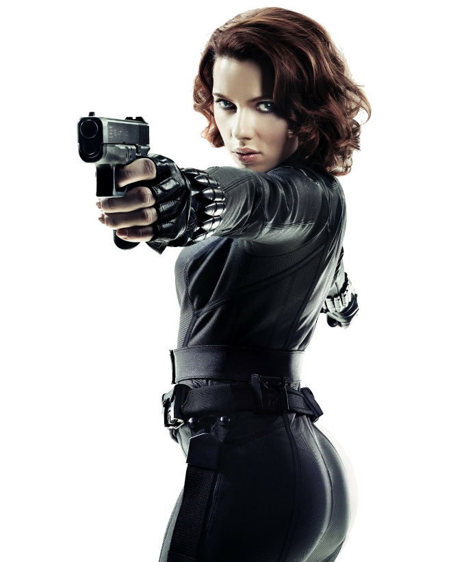 Black Widow PNG Render by MrVideo-VidMan PlusPng.com  - Black Widow PNG