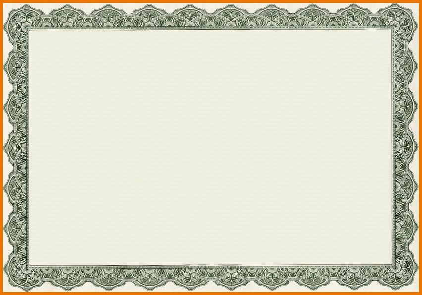 Blank Award Certificate Template.certificate Template.png . - Certificate Template PNG