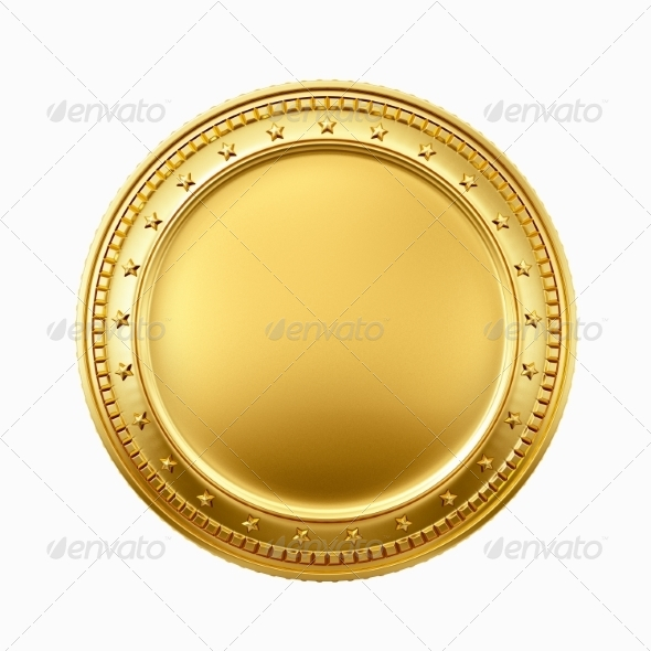 Gold Coin Template Printable - Blank Coin PNG
