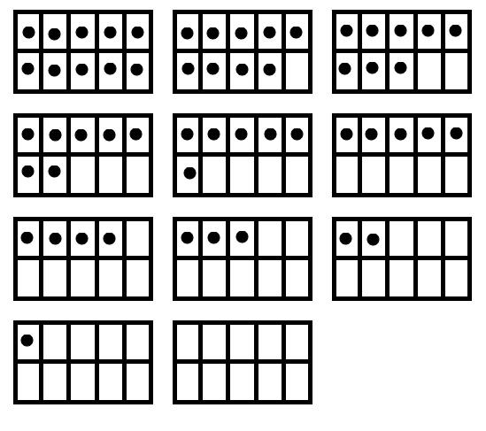 10 Frame Printable Worksheets - You Searched For Ten Frame Math . - Blank Ten Frame PNG