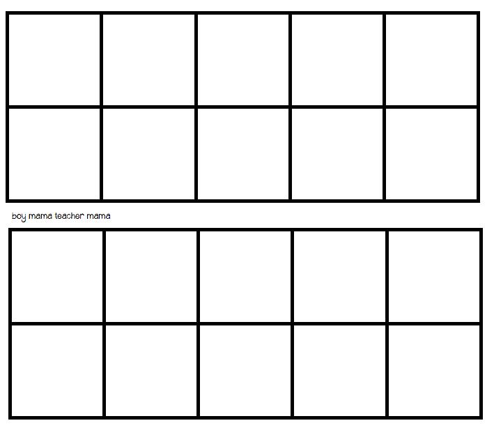 Blank Ten Frames - Blank Ten Frame PNG
