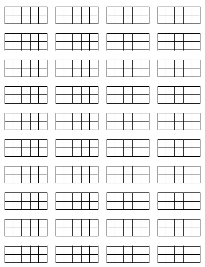 Print These Blank Mini-10 Frames, Cut Them Apart, And Keep Them Handy - Blank Ten Frame PNG