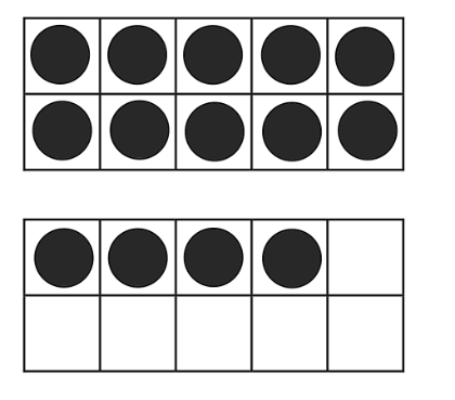 Printable Ten Frames with Dots - Blank Ten Frame PNG