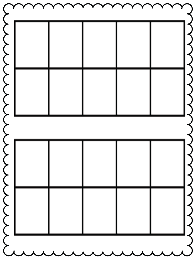 photo about Double Ten Frame Printable identify Blank 10 Body PNG Clear Blank 10 Body.PNG Illustrations or photos