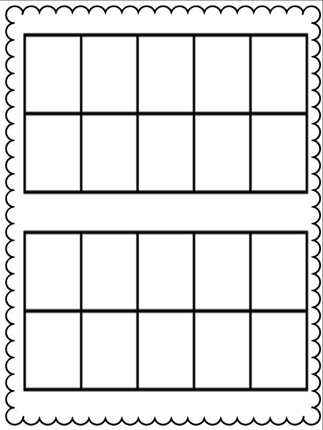Ten Frame - Blank Ten Frame PNG