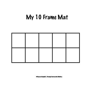 ten frame mat - Blank Ten Frame PNG