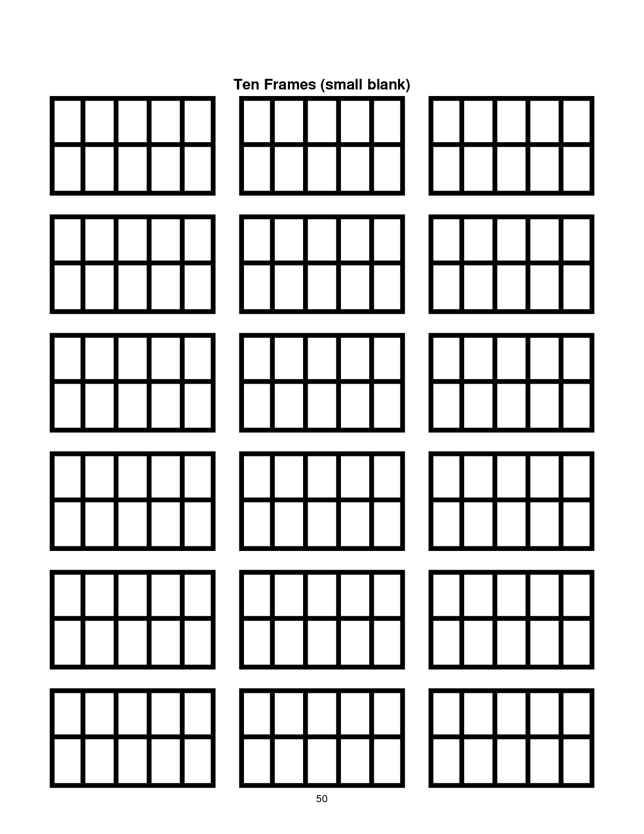 ten frame template printable