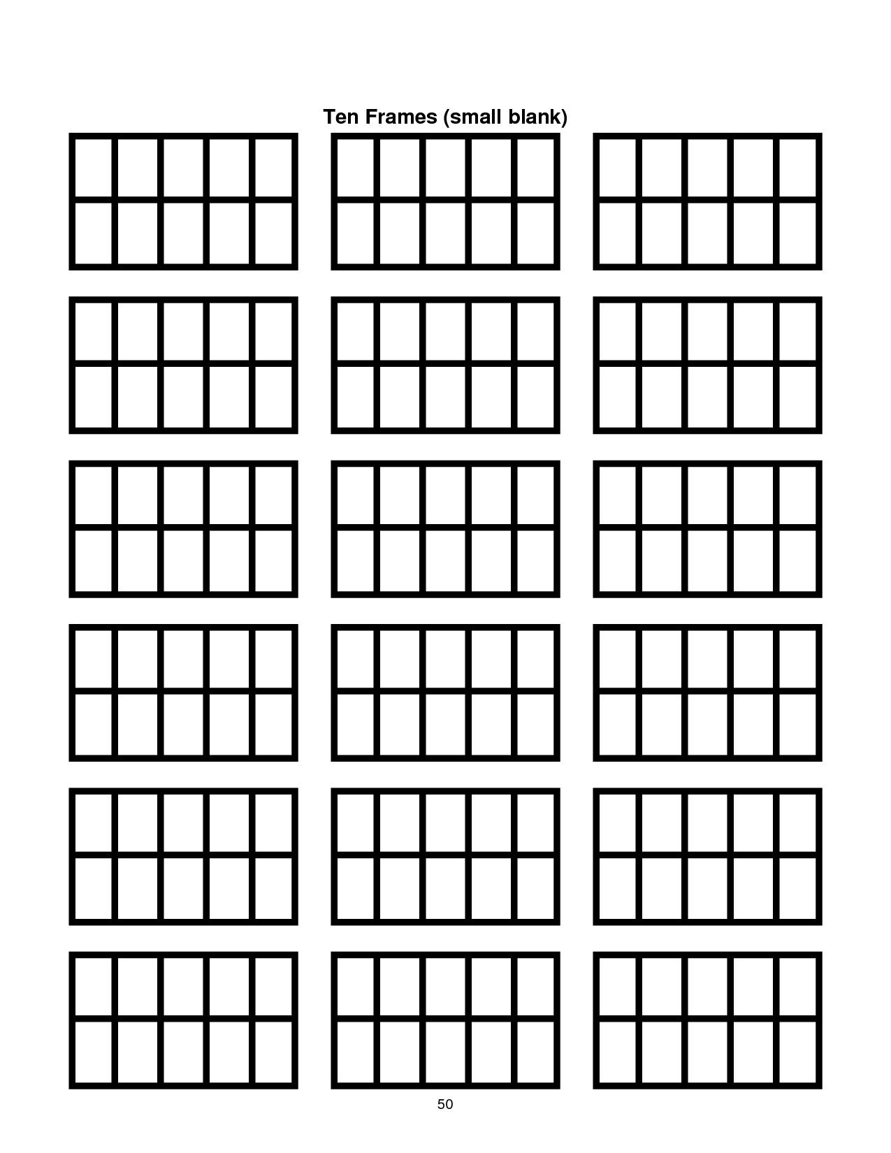 Ten Frame Template Printable | Document Sample - Blank Ten Frame PNG
