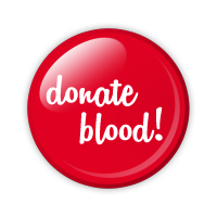 red donate blood button