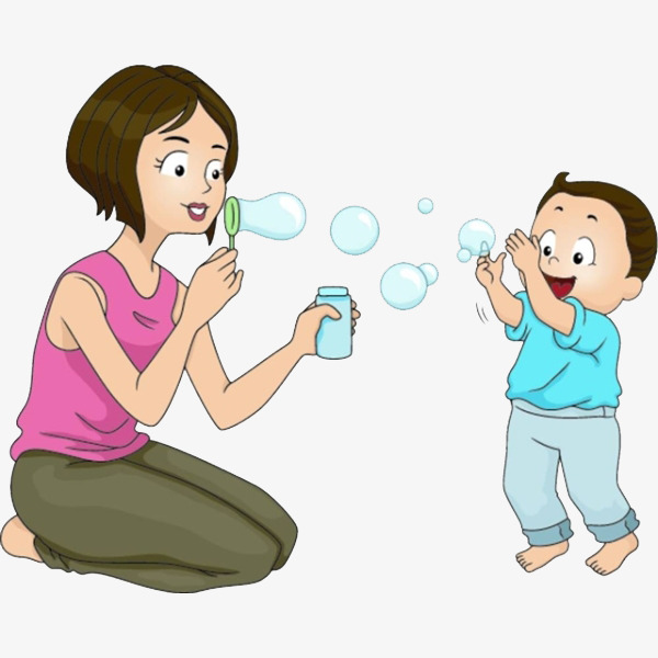 a mother who bubbles, Cartoon, Jane Pen, Blow Bubbles PNG Image and Clipart - Blow Bubbles PNG