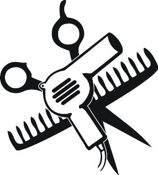 Blow Dryer And Scissors PNG - 66100