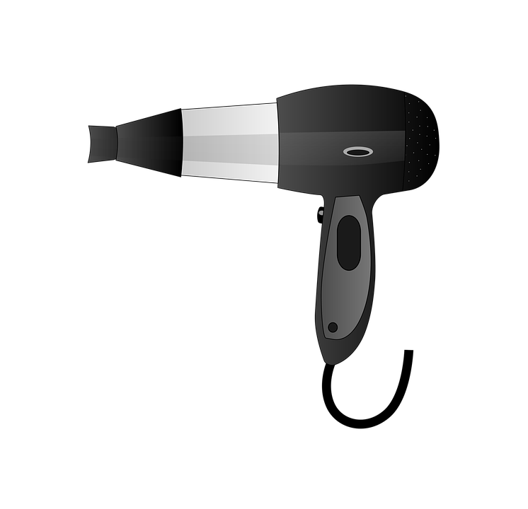 Blow Dryer And Scissors PNG - 66112