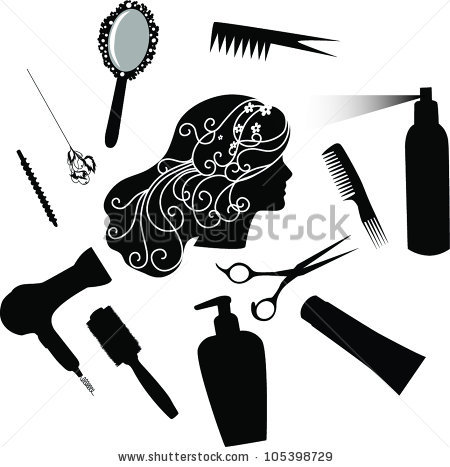 Blow Dryer And Scissors PNG - 66108