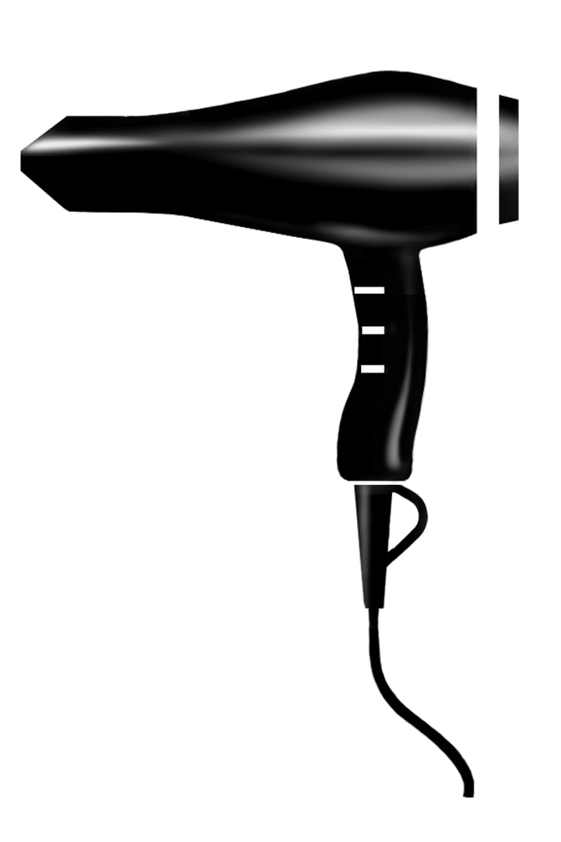 Blow Dryer And Scissors PNG - 66107