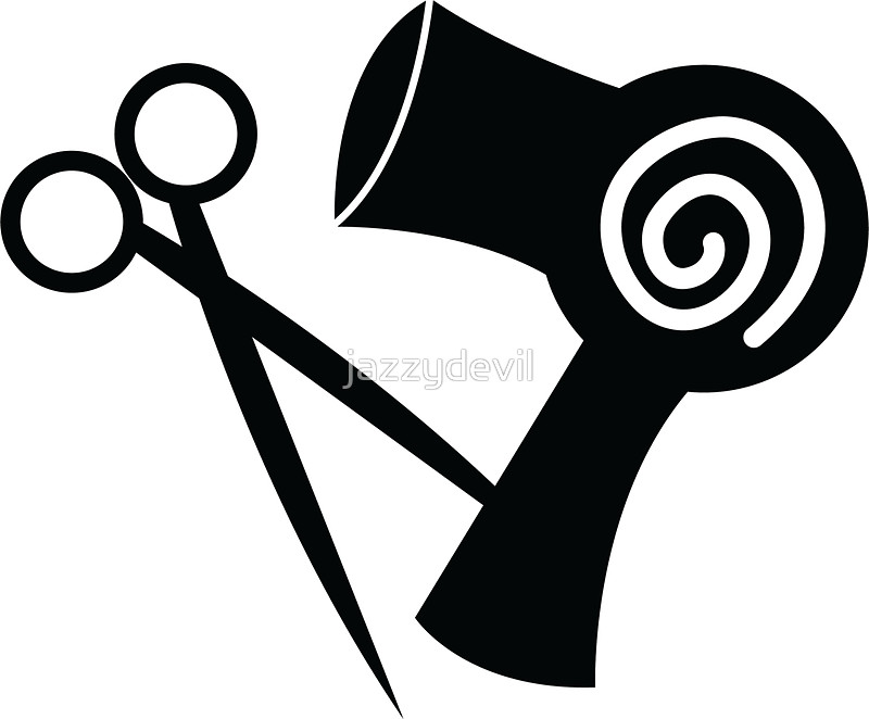Blow Dryer And Scissors PNG - 66109