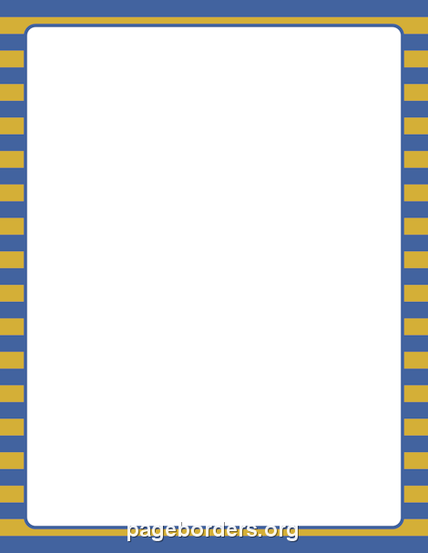 Blue and Gold Striped Border