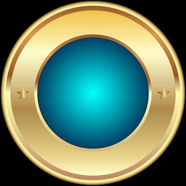 5dd7805f02b5 Seal Badge Blue PNG Transparent Clip Art Image. Blue and Gold ...