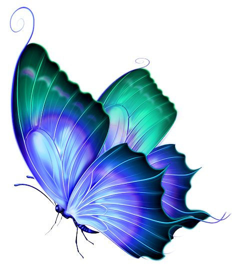 Blue Butterflies Png Image #26544 - Butterfly Design PNG
