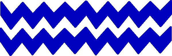 Blue Chevron Border PNG - 164003