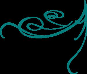 Blue Decorative Swirl Clip Ar