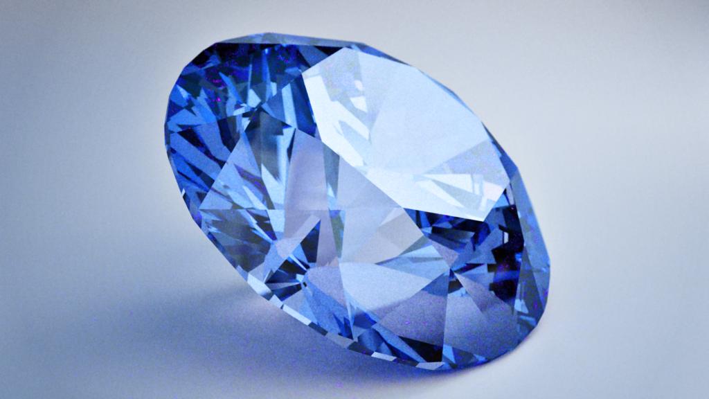 Blue diamond by Inobelar PlusPng.com  - Blue Diamond PNG HD