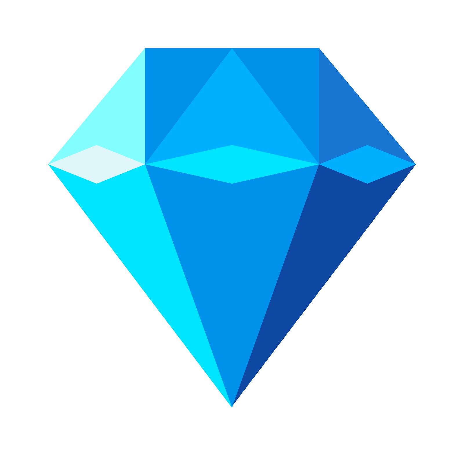 cut diamond images - Blue Diamond PNG HD
