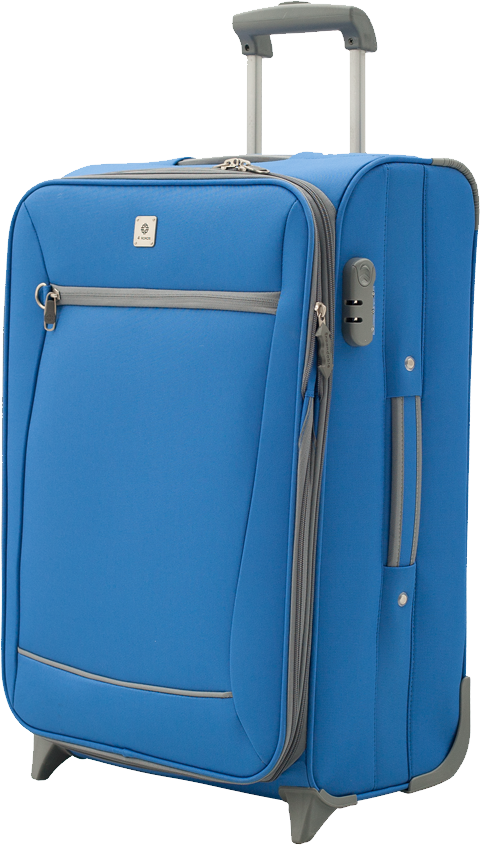 Blue luggage PNG image - Luggage PNG