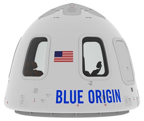 Side of Capsule! - Blue Origin PNG