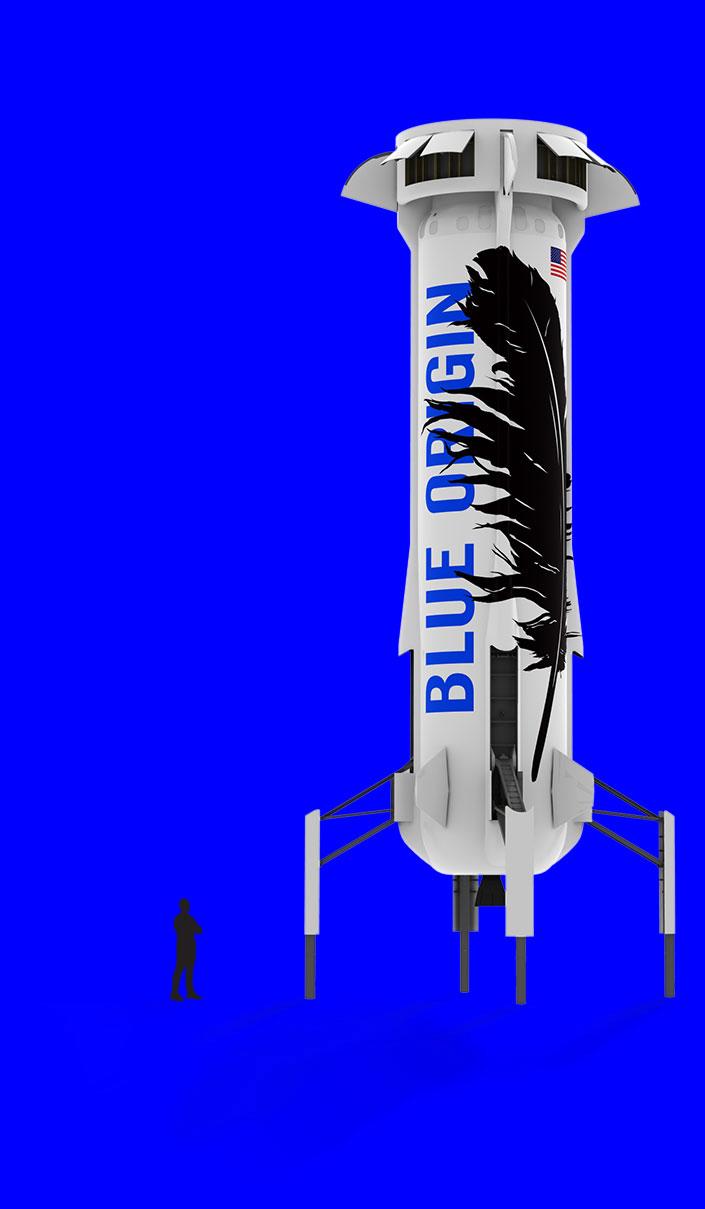 Vertical landing booster - Blue Origin PNG